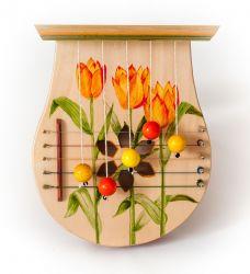 """Türharfe handbemalt: Motiv """"Tulpen"""""""