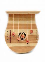 Türharfe mit Klangdecke und eingelegtem Schallloch